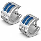 Anillos de oreja acero 146 - dos características azuls
