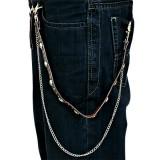 Cadena de jean gótico 09 - cráneo y rondas
