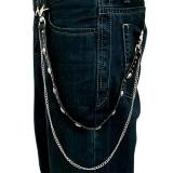 Cadena de jean gótico 11 - cráneo y pequeñas Picos