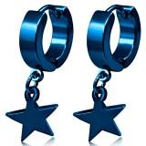 Anillos de oreja acero 178 - azul estrella