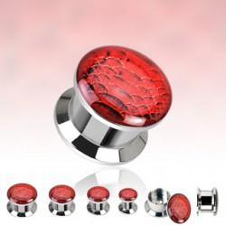 Plug en acero logo desatornillado vipère rojo