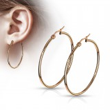 Boucles Pendiente criollas 70 - Gold-ip rosa