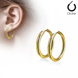 Boucles Pendiente criollas 75 - Gold-ip B