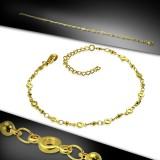 Cadena de tobillo 70 - Gold-ip cadena círculos