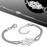 Cadena de tobillo 72 - Doble cadena mano fatma
