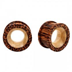 Túnel curva en madera de palma centro blanco