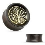 Plug en madera curva árbol de vida