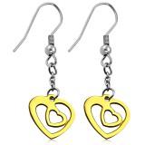 Crochet de acero 19 - Gold ip corazóns