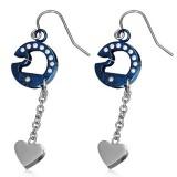 Crochet de acero 38 - círculo azul y corazón