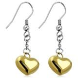 Crochet de acero 42 - corazón amarillo