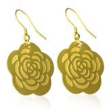 Crochet de acero 58 - Gold ip Flor