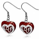 Crochet de acero 108 - Love rojo