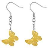 Crochet de acero11 - Gold ip mariposa