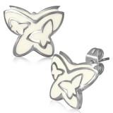 Stud de acero 21 - mariposa fondo blanco