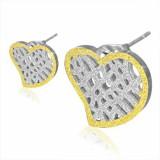 Stud de acero 79 - Gold ip corazón