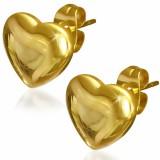 Stud de acero 102 - Gold ip corazón