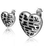 Stud de acero 123 - corazón taches negros