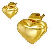 Stud de acero 149 - Gold ip corazón