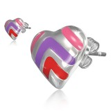 Stud de acero 169 - corazón multicolore