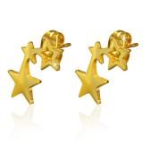 Stud de acero 179 - Gold ip dos estrella