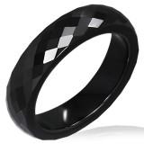 Anillo céramique 05 - negro faceta