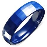 Anillo céramique 07 - azule facetas