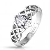 Anillo corazón con corona y líneas celta (10)