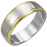 Anillo gold-ip 04 - centro gris