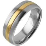 Anillo gold-ip 09 - centro colorido y Bordes gris