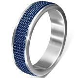 Anillo PVD 04 - líneas azules