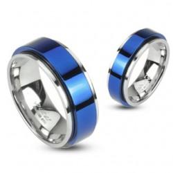 Anillo PVD 21 - centro azul