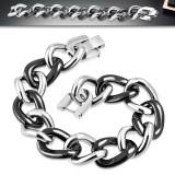 Pulsera céramique 12 - cadenas acero y negro
