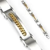 Pulsera de acero 76 - cadena gold-IP