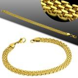 Pulsera acero cadena 39 - Gold-ip enlaces trenzados