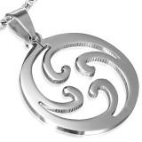 colgante tribale 09 - espirales en círculo