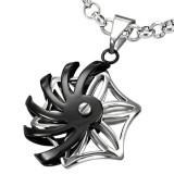 colgante tribale 20 - Rosas tribale grise y negro