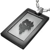 Colgante plano 10 - negro dragon fondo transparente