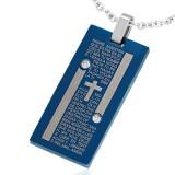 Colgante plano 35 - azul cruz y bandas