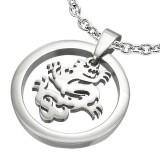 Colgante animal 05 - Dragon en círculo