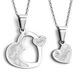 Colgante de la pareja 03 - corazón y coeur