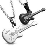 Colgante de la pareja 14 - dos guitarras