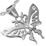 Colgante animal 41 - mariposa tribale con zirconas