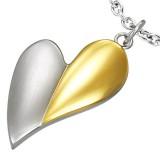 Colgante corazón gris y amarillo (09)