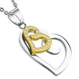 Colgante dos corazones con strass (10)