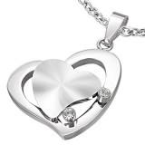 Colgante corazóns gris dos zirconas (16)