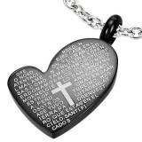 Colgante corazón negro escrituras en latin (30)