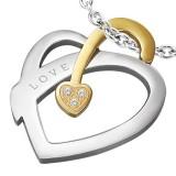 Colgante corazón love banda amarillo (41)