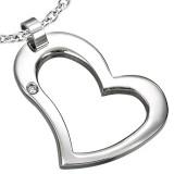 Colgante corazón hueco con strass (45)
