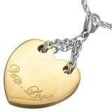Colgante corazón amarillo Vow love (57)