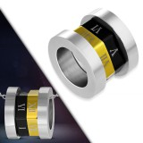 Colgante anillo 04 - Números romanos gold-ip y negro